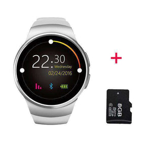 Full Screen Support SIM TF Card Smartwatch Vulcan Mart silver 8GB