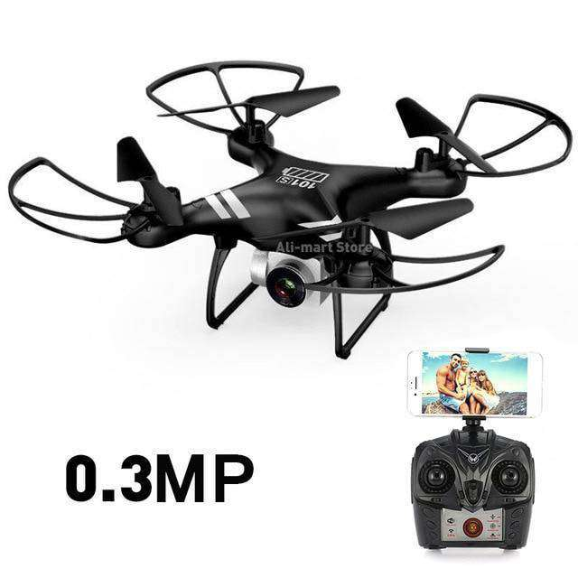Headless RC Quadcopter Drone - Long Flight Time Vulcan Mart Black 0.3MP camera
