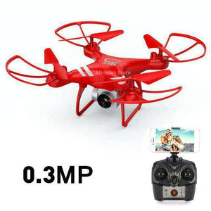 Headless RC Quadcopter Drone - Long Flight Time Vulcan Mart Red 0.3MP camera