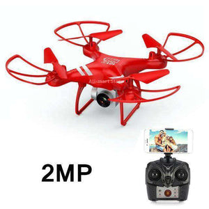 Headless RC Quadcopter Drone - Long Flight Time Vulcan Mart Red 2MP camera