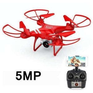Headless RC Quadcopter Drone - Long Flight Time Vulcan Mart Red 5MP camera