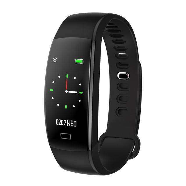 Heart Rate Pedometer Smart Watch Vulcan Mart Black