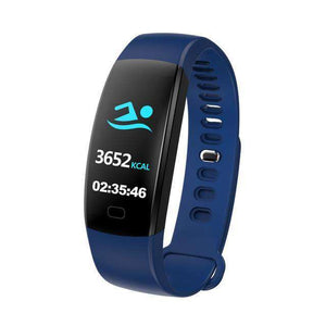 Heart Rate Pedometer Smart Watch Vulcan Mart Blue
