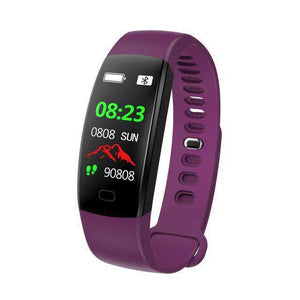 Heart Rate Pedometer Smart Watch Vulcan Mart Purple