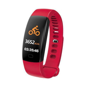 Heart Rate Pedometer Smart Watch Vulcan Mart Red