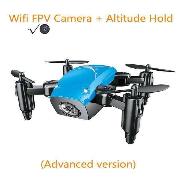 Mini Drone with Camera Vulcan Mart blue with camera
