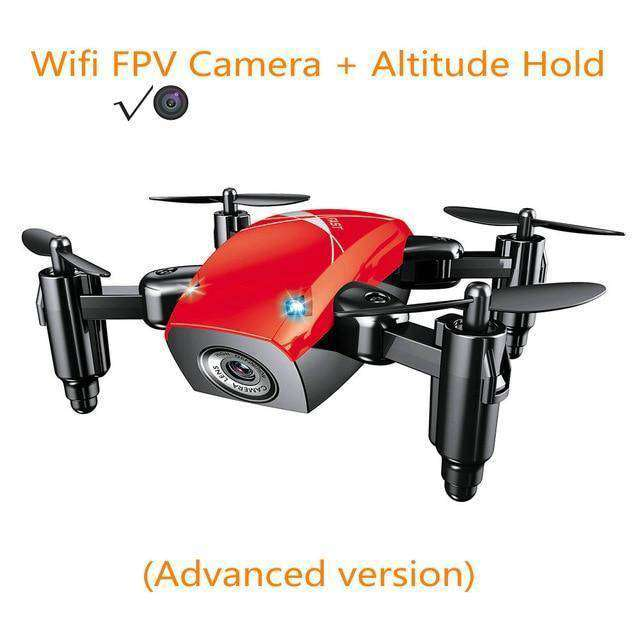 Mini Drone with Camera Vulcan Mart red with camera