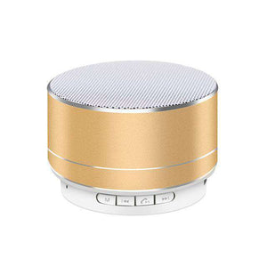 Portable Wireless Bluetooth Speaker With Microphone Vulcan Mart Silver Grey