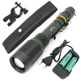 Zoomable +2x 18650 Battery +Charger+Clip+Bag
