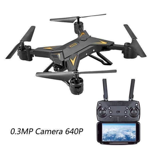 Professional RC Helicopter Drone Vulcan Mart 0.3mp camera-black