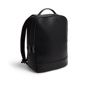 Acacia Black Unisex Vegan Sustainable Laptop Backpack