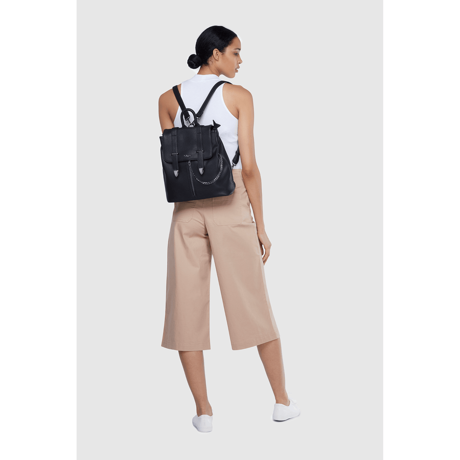 Agnes Black Vegan Sustainable Backpack