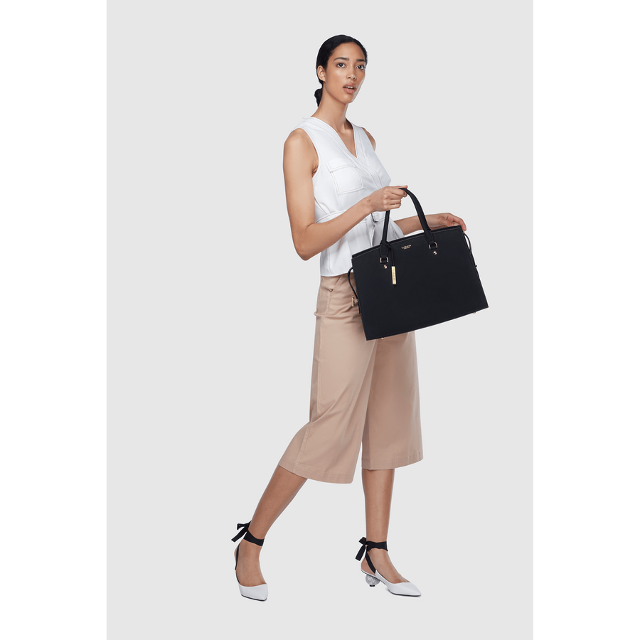 Aricia Brown Vegan Carryall bag