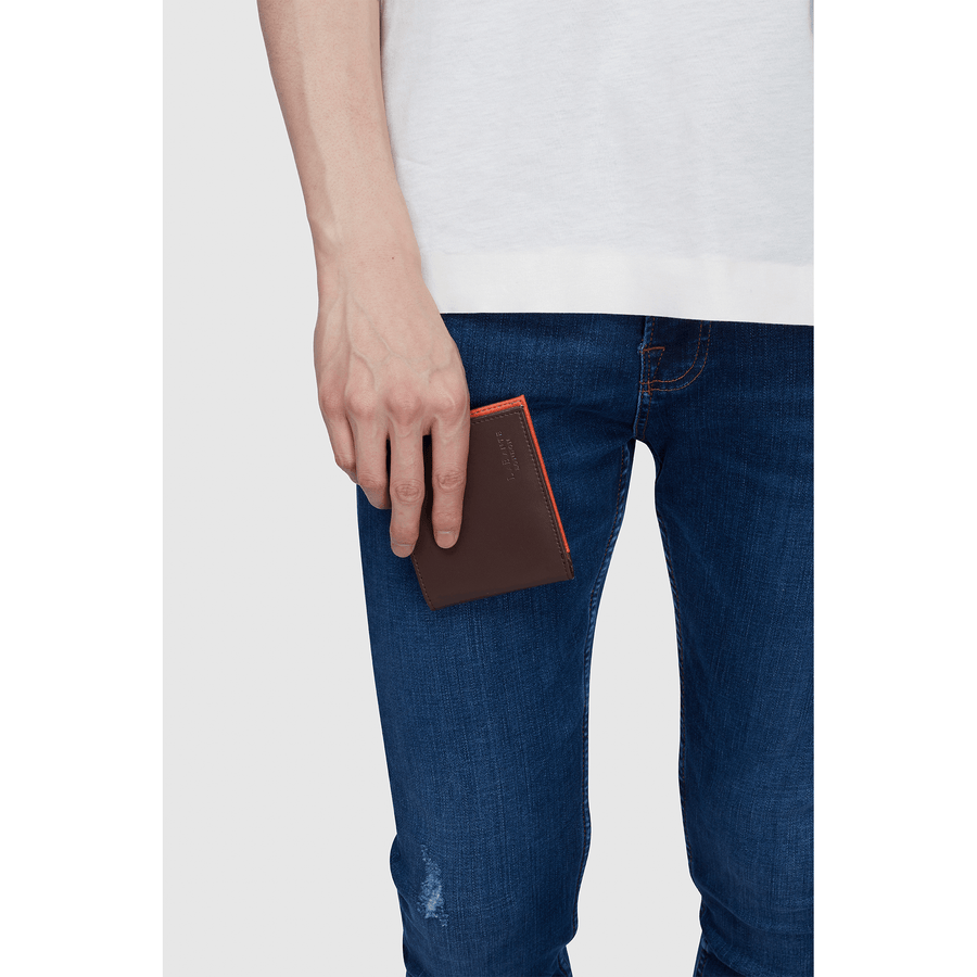 Brave Dark Brown Vegan Sustainable Bifold Wallet