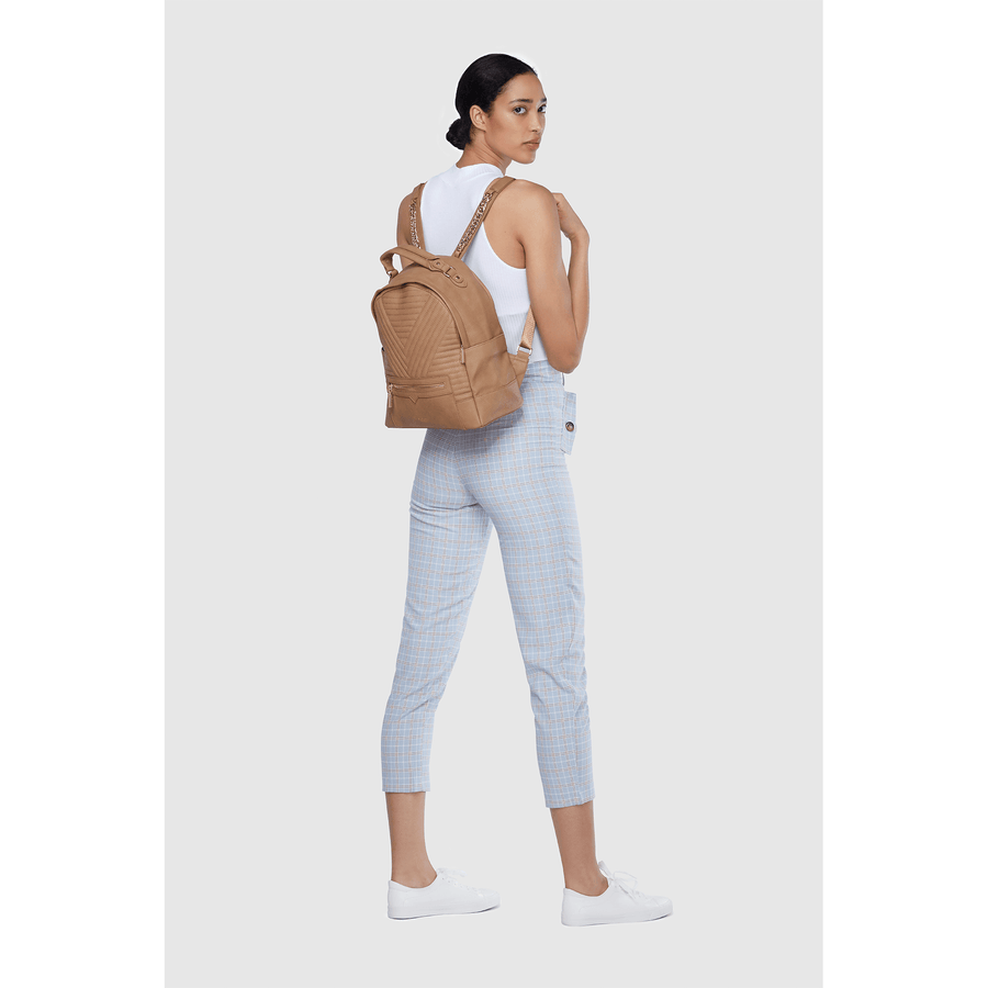 Camberwell Brown Vegan Sustainable Quilted Backpack
