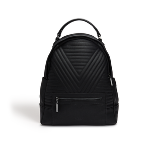 Camberwell Black Quilted Backpack