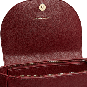 Miley Bordeaux Small Vegan Sustainable Backpack
