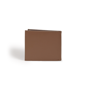 Brave Brown Vegan Bifold Wallet