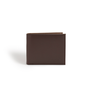 Brave Dark Brown Vegan Bifold Wallet