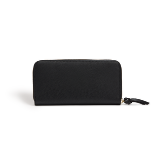 Serene Black Vegan Sustainable Zip Around Wallet