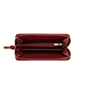 Serene Bordeaux Vegan Sustainable Zip Around Wallet
