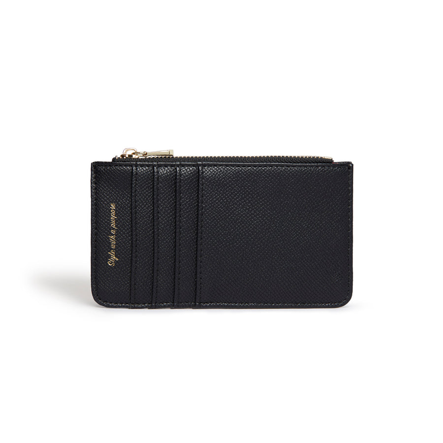 Willow Black Coin and Card Holder