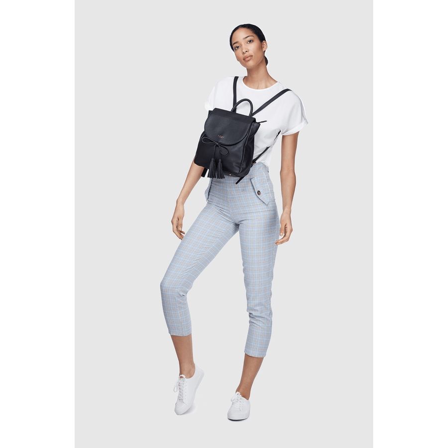Miley Black Small Vegan Sustainable Backpack