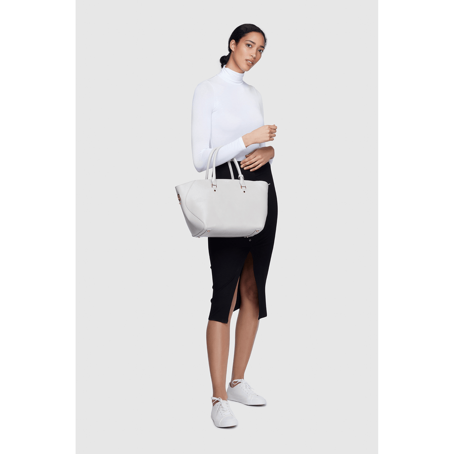 Grey - Sophie Vegan Tote Bag, Tote Bag for Work