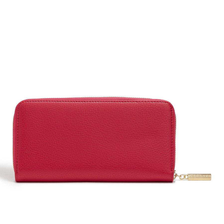 Pink Serene Vegan Zip Around Wallet