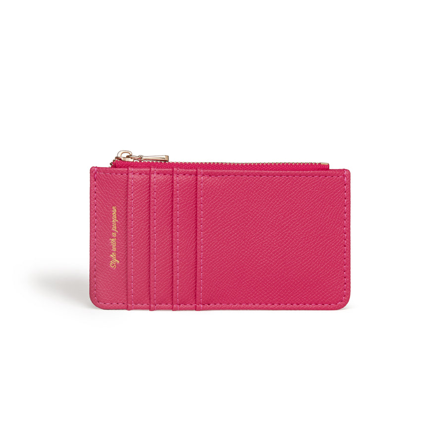 Willow Fuchsia Coin and Card Holder