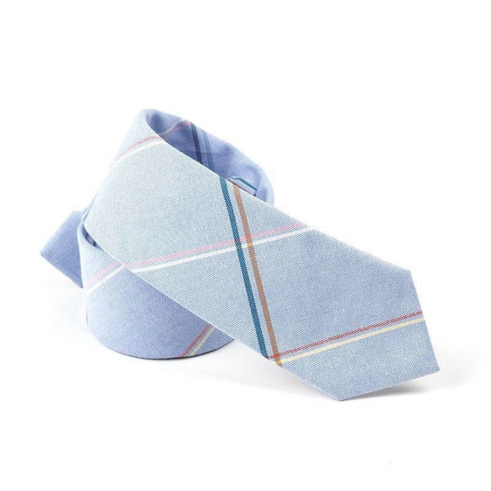 Unisex Cotton Plaid Necktie