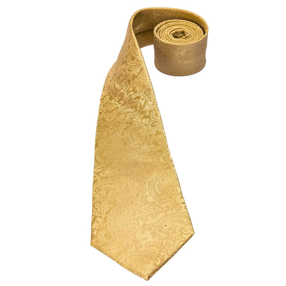 Gold Silk Tie Set