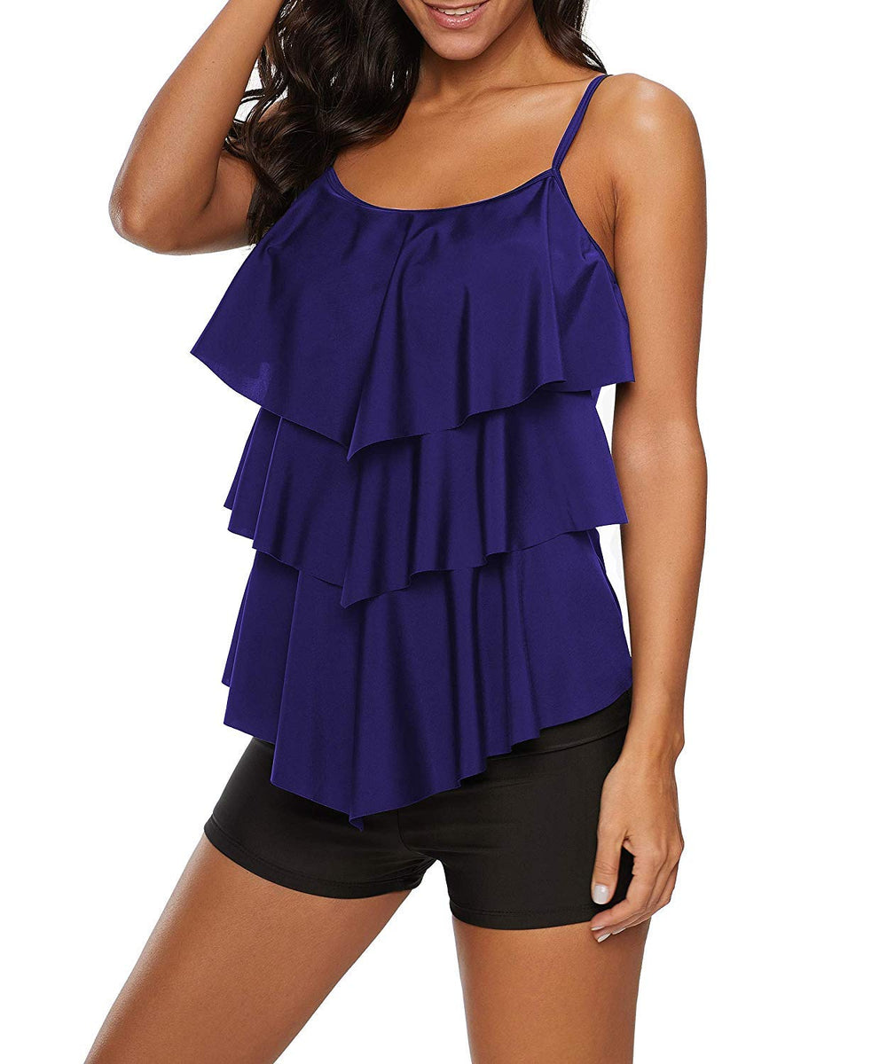 Two Pieces Ruffle  Swimsuit