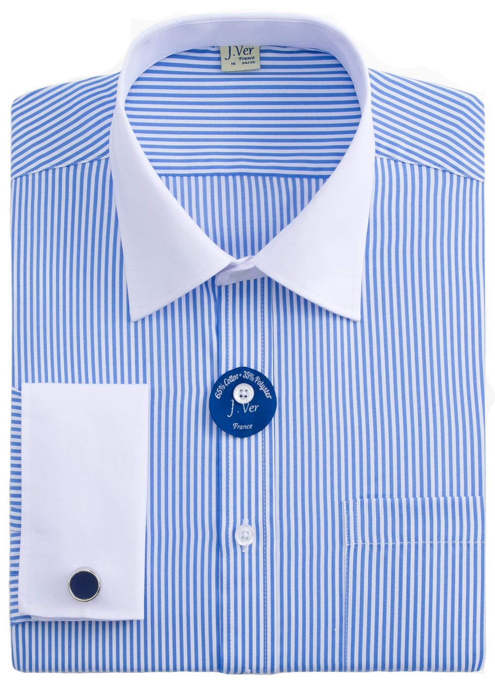 White Collar Stripe Shirt