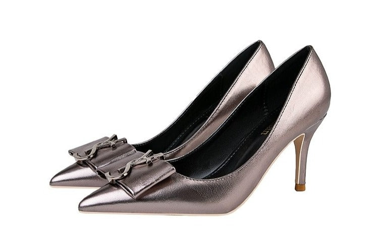 Metal Buckle Pumps