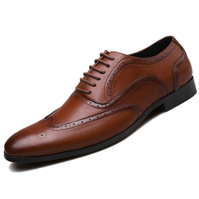 Retro Leather Dress Shoes