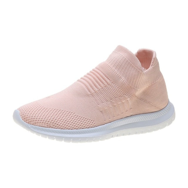 Women Stretch Fabric Tennis Sneakers