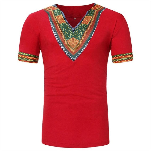 Dashiki Tribal Print T-Shirt