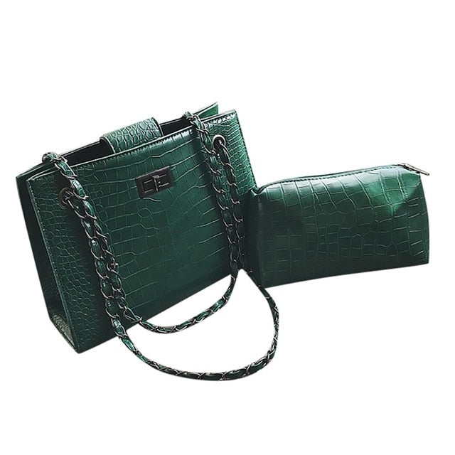Crocodile Pattern  Bag  w/wallet