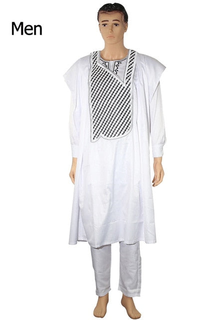 White Stripped Agbada