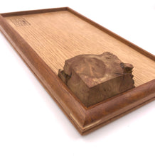 Load image into Gallery viewer, Small Tray- mahogany x white oak with Burl.