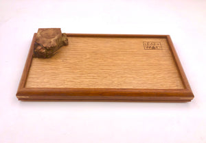 Small Tray- mahogany x white oak with Burl.