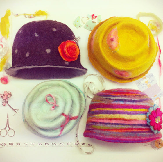 Making Wet Felted Felt Hats...