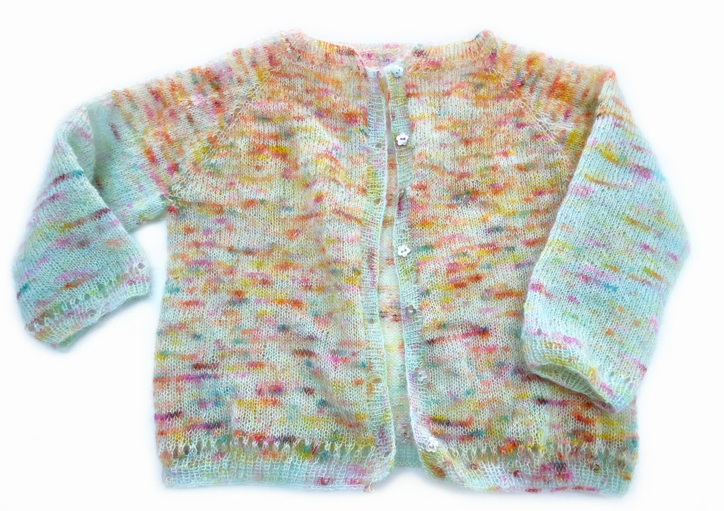 "My Hand Dyed Yarn Kid Silk Mohair ""Gertrude"" Cardigan"