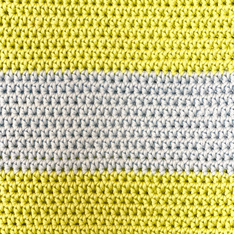 Striped Crocheted Tote Bag