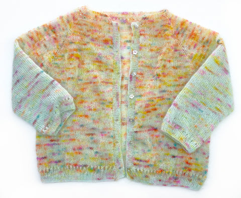 Gilliangladrag Holy Fluff Hand Dyed Yarn Kid Silk Mohair for Gertrude Cardigan