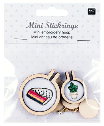 Mini Embroidery Hoop Frames : 2 Pack 25mm and 40mm