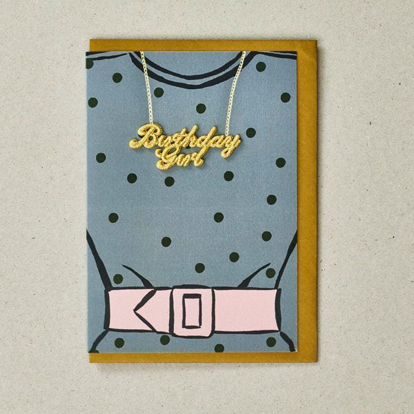 Polka Dot Birthday Girl Greetings Card