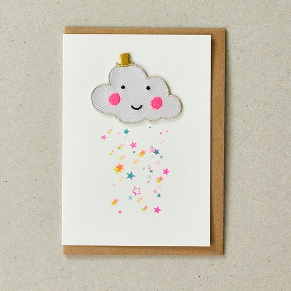 Cloud Patch (Iron On) Greetings Card