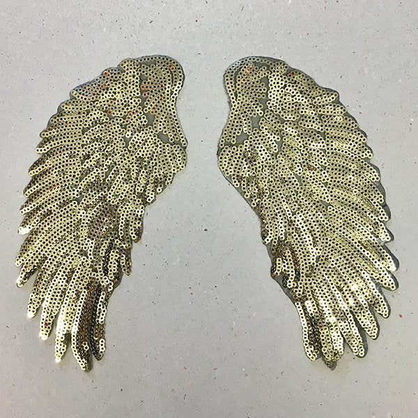 Golden Wings Iron on Patches